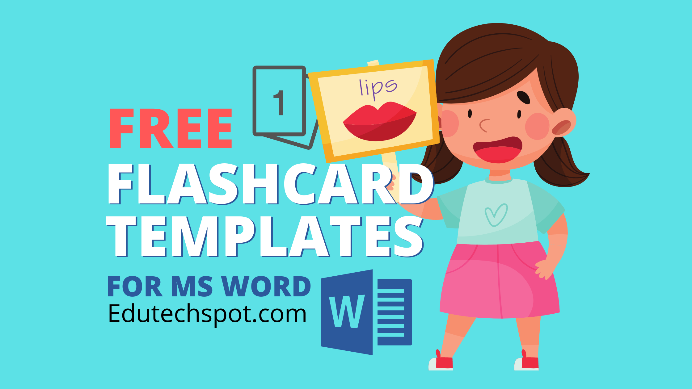 Flash Card Template for Word, Power Point, Google Docs, Slides With Regard To Flashcard Template Word